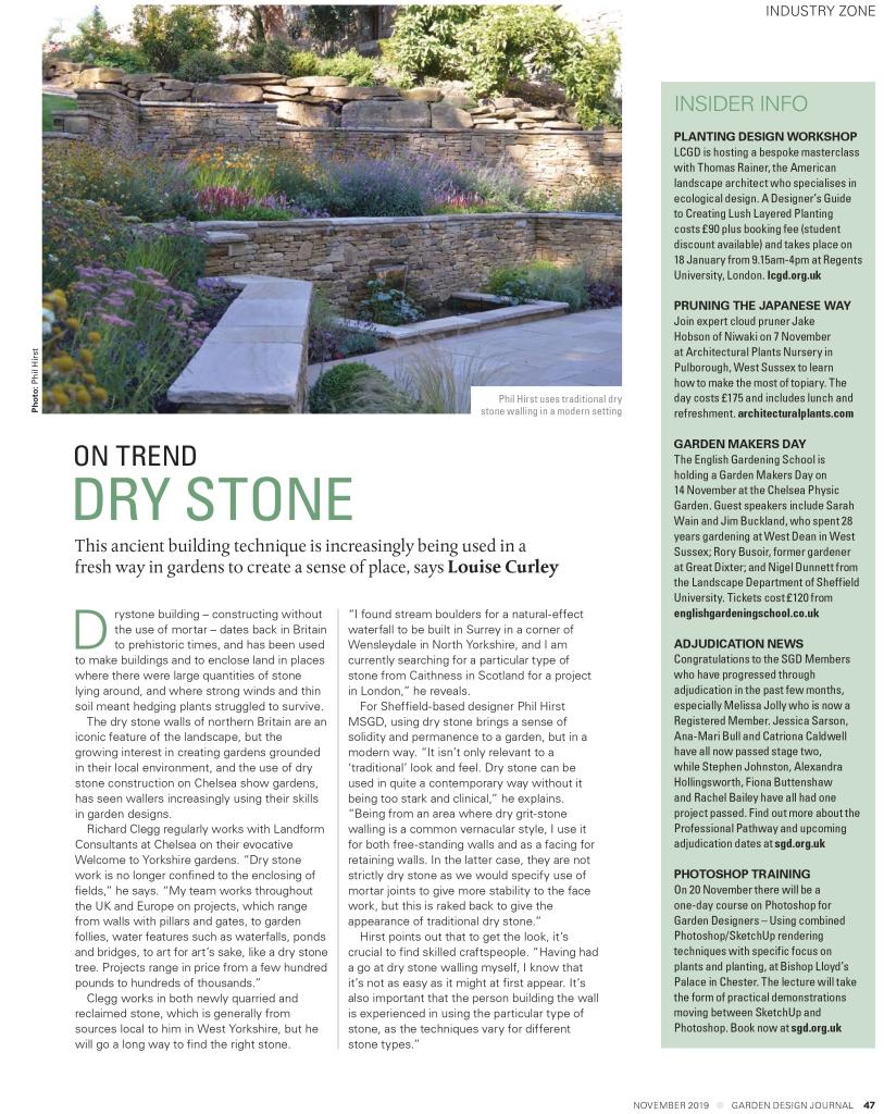 Garden Design Journal November 2019